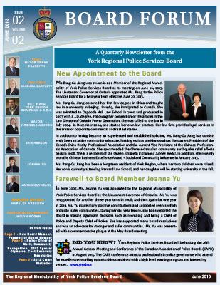 Snapshot of June 2013 Newsletter