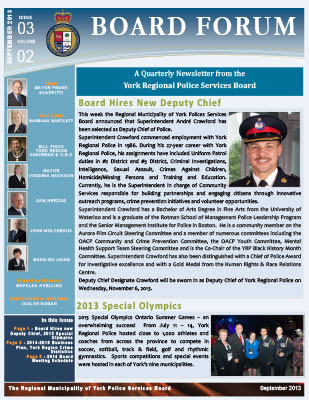 Snapshot of September 2013 Newsletter