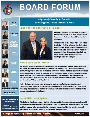 Snapshot of March 2016 newsletter