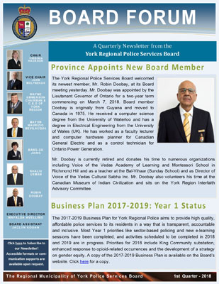 Snapshot of First Quarter 2018 Newsletter